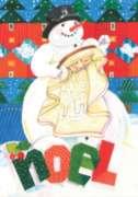 Snowy Noel - Garden Flag by Toland