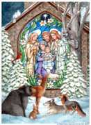 Winter Nativity - Standard Flag by Toland