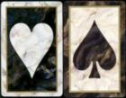 Black Marble Jumbo - Double Deck Playing Cards