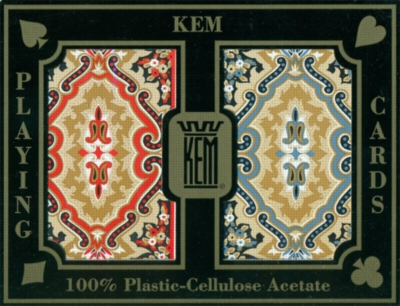 KEM Paisley (Red/Blue) - Narrow Standard Playing Cards