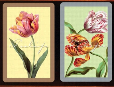 Tulips Jumbo - Double Deck Playing Cards