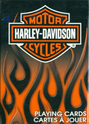 Harley Davidson Flames Design - Playing Cards
