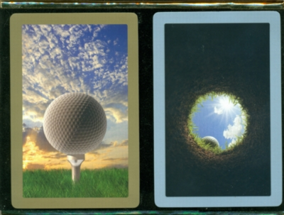 Golf Perspective Jumbo - Double Deck Playing Cards