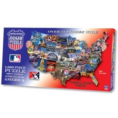 Baseball Across America - 1000pc Shaped Jigsaw Puzzle by TDC