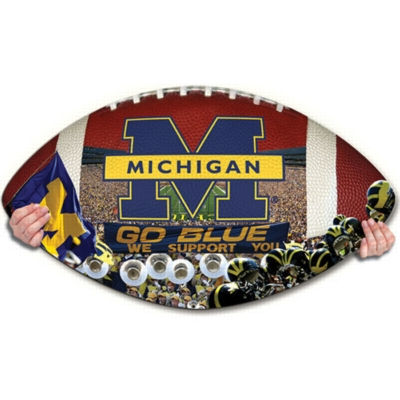 Michigan Wolverines - 550pc Shaped Jigsaw Puzzle by TDC