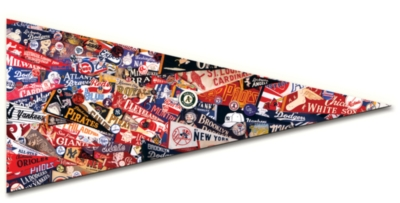 MLB: Vintage Pennants - 300pc Pennant-Shaped Jigsaw Puzzle by TDC