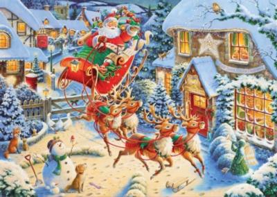 Santa's Sleigh Ride - 1000pc Jigsaw Puzzle By Ravensburger