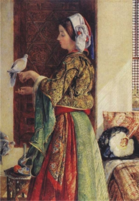 Perre Jigsaw Puzzles - Girl With Two Caged Doves