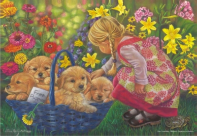 Perre Jigsaw Puzzles - Basket Full Of Love