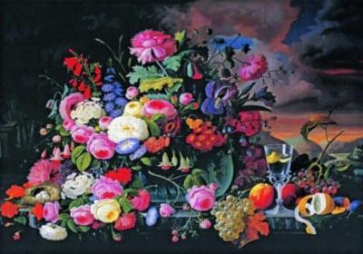 Fruit & Flowers Still Life - 500pc Jigsaw Puzzle by Anatolian
