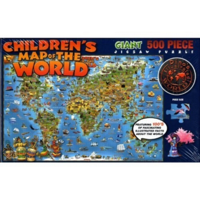 "Jigsaw Puzzles - Children's Map Of The World, 24"" x 36"""