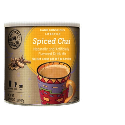 Big Train Carb Conscious Chai Tea - 2 lb. Low Carb Can