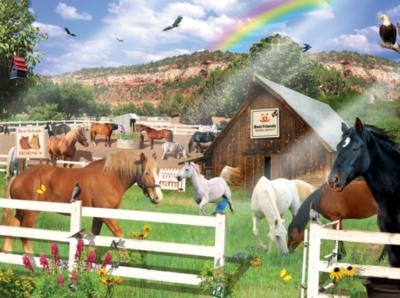 Jigsaw Puzzles - Best Friends Horses