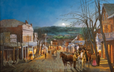 Jigsaw Puzzles - Moonrise over Grass Valley