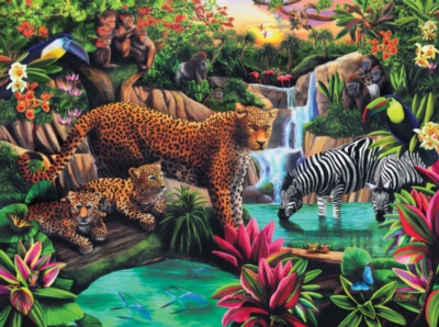 Jigsaw Puzzles - Jungle Elegance