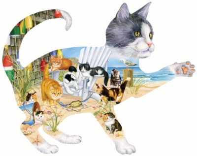 Shaped Jigsaw Puzzles - Beach Cats
