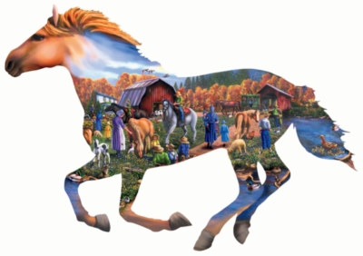 Shaped Jigsaw Puzzles - A Day at the Farm