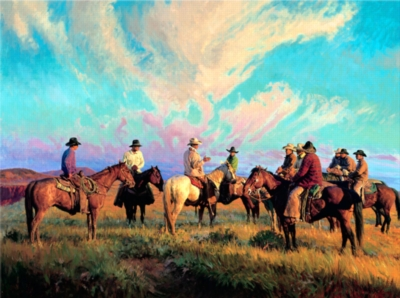 Jigsaw Puzzles - Cowboys Scattering The Hands