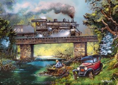 Jigsaw Puzzles - Rails on Dogwood