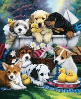 Jigsaw Puzzles - Bath Time Pups