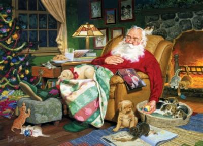 Cobble Hill Large Format Jigsaw Puzzles - Santa's Nap Time