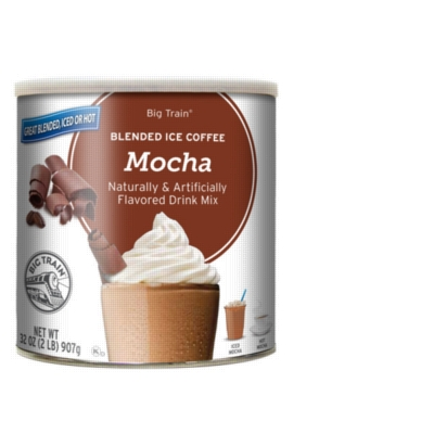 Big Train Blended Ice Coffee - Mocha - 2 lb. Can Case