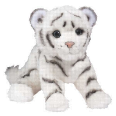 "Silky White Tiger Cub - 14"" Tiger By Douglas Cuddle Toy"