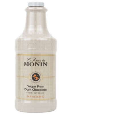 Monin Gourmet Sugar Free Dark Chocolate Sauce - 64 oz. Bottle