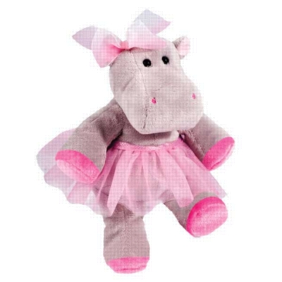 "Lulu - 10"" Hippopotamus By Douglas Cuddle Toy"