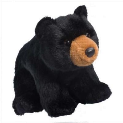 "Almond Black Bear - 11"" Bear By Douglas Cuddle Toy"