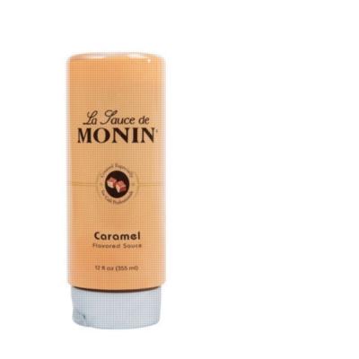 Monin Gourmet Caramel Sauce - 12 oz. Squeeze Bottle