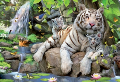 Educa Jigsaw Puzzles - Bengal White Tigers