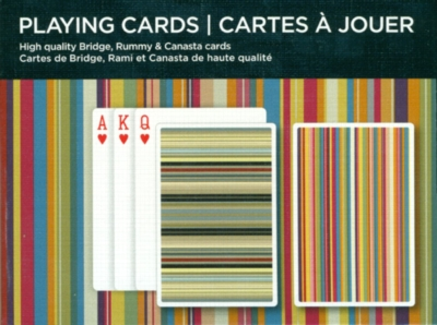 Art Stripes - Double Deck Playing Cards