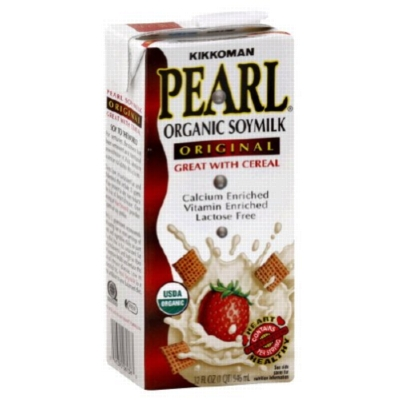 Pearl Organic Soy Milk: Original - 32oz Carton