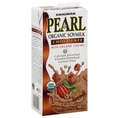 Pearl Organic Soy Milk: Chocolate - 32oz Carton