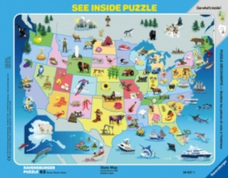 State Map - 63 piece tray puzzle by Ravensburger