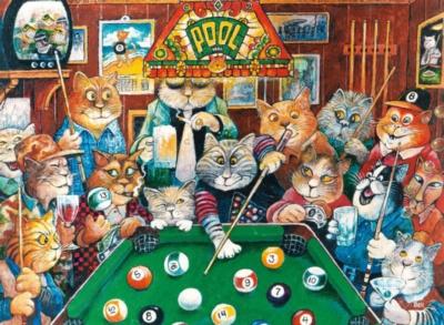 Ravensburger Jigsaw Puzzles - Pool Hall Cats