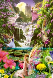 Educa Jigsaw Puzzles - Waterfall Fairies