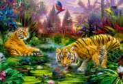Educa Jigsaw Puzzles - Tigers at the Ancient Stream