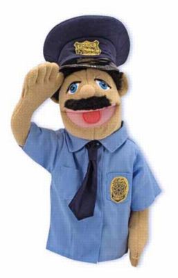 Police Officer Puppet - Puppets by Melissa & Doug
