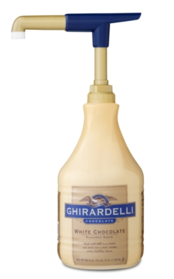 Ghirardelli Classic White Chocolate Sauce - 64 fl. oz. Bottle