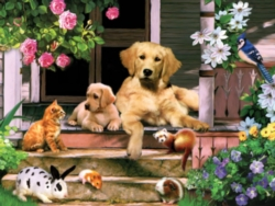 Large Format Jigsaw Puzzles - Summer on the Porch
