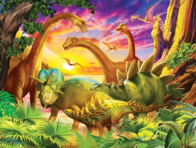 Dinosaurs Jigsaw Puzzles for Kids - Dino Delight - Large