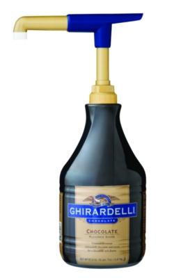 Ghirardelli Black Label Chocolate Sauce - 64 oz. Bottle