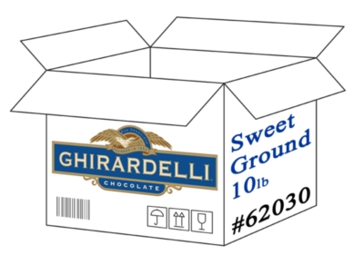 Ghirardelli Sweet Ground Chocolate Powder - 10 lb. Case