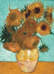 Tomax Jigsaw Puzzles - Vase with Twelve Sunflowers Mosaic