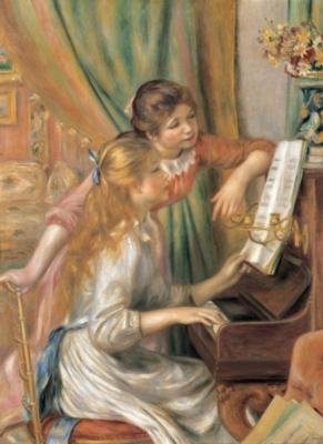 Music Puzzles - Two Young Girls at the Piano