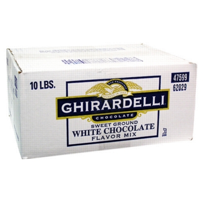 Ghirardelli Sweet Ground White Chocolate Powder - 10 lb. Case