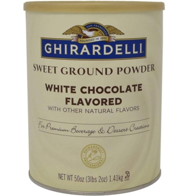 Ghirardelli Sweet Ground White Chocolate Powder - 3.12 lb. Can