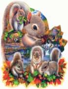 Shaped Jigsaw Puzzles - Autumn Squirrel